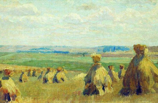 Снопы. Сжатое поле