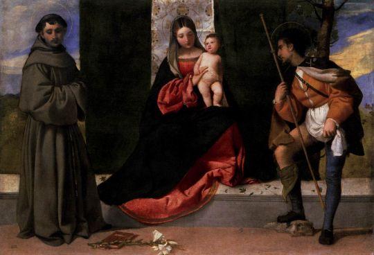 Мадонна с младенцем и святыми Антонием Падуанским и Роком