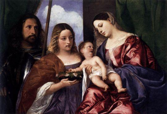 Мадонна с младенцем и святыми Дороти и Джорджем