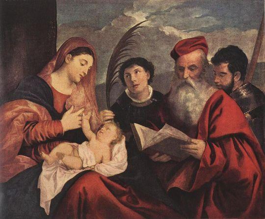 Мария с младенцем и святыми