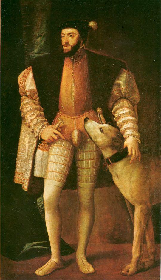 Портрет Карла V с собакой