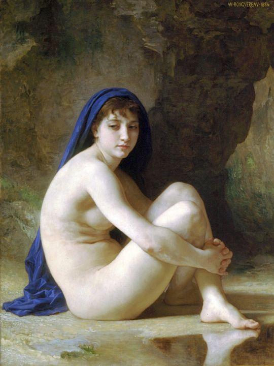 Сидящая купальщица