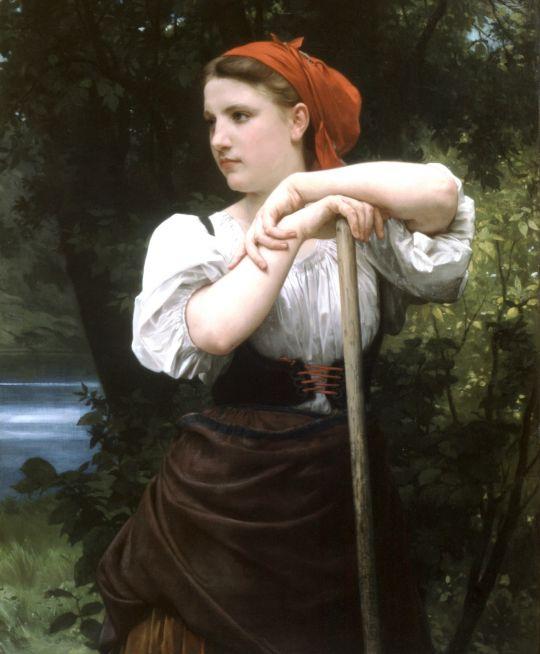 Сборщица сена
