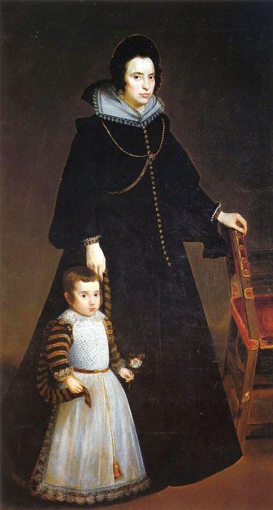 Дона Антония де Ипянаррета и ее Сын