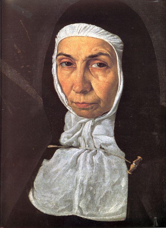 Портрет матери Херонимы де ла Фуэнте (Деталь)