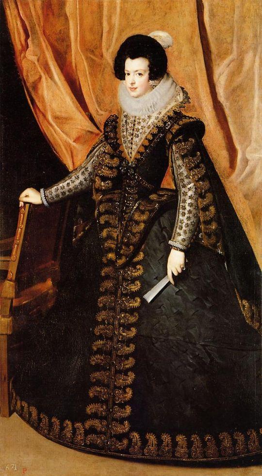 Королева Изабелла стоя