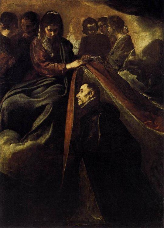 Святой Ильдефонсо получает ризу из Виргинии