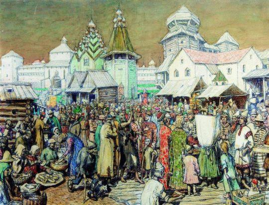 Городская площадь XVII века