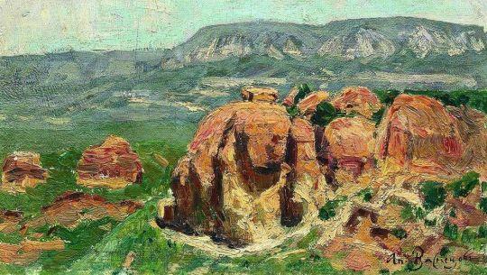 Красные скалы в Кисловодске.