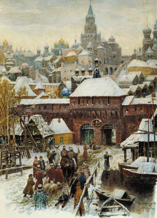 Москва. Конец XVII века.