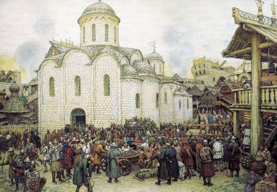 Оборона Москвы от хана Тохтамыша. XIV век.