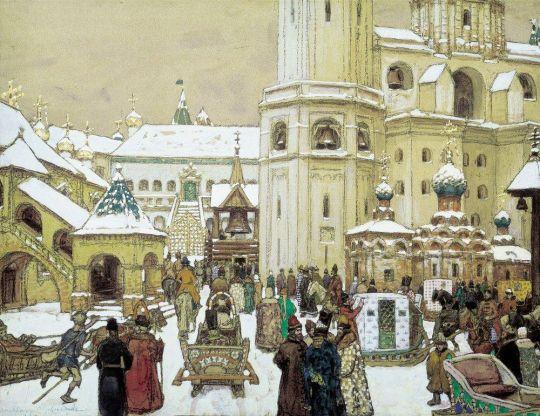 Площадь Ивана Великого в Кремле. XVII век.