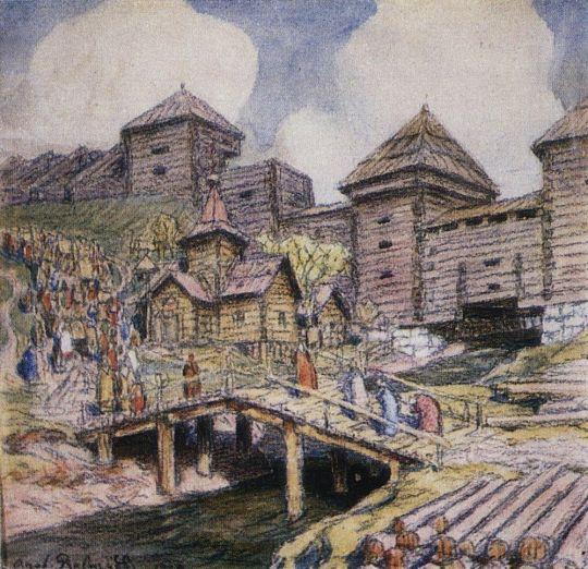 Стены деревянного города. Москва XVII века.