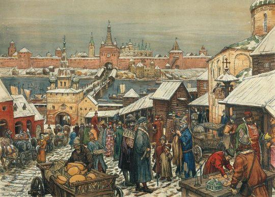 Торг в Нижнем Новгороде.