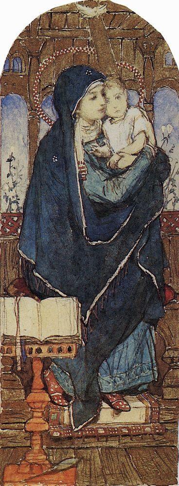 Богоматерь с Младенцем на престоле.