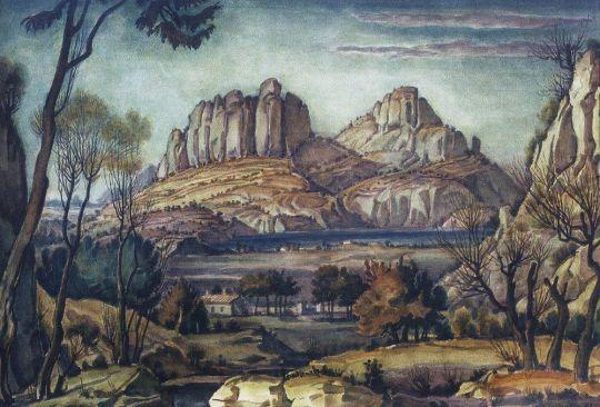 Романтический пейзаж (Крымский пейзаж)