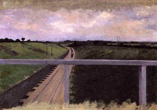 Пейзаж с железной дорогой