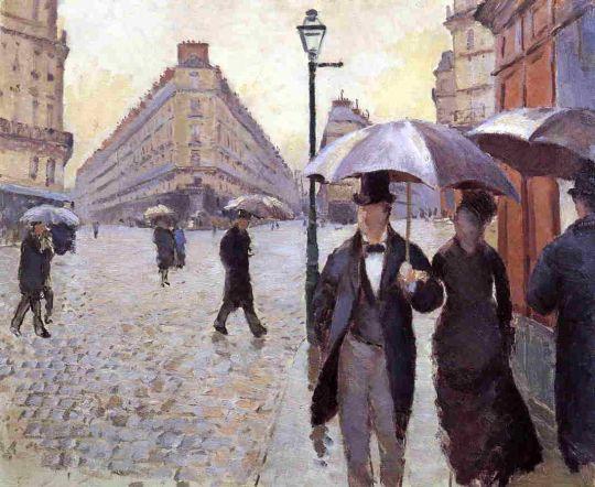Парижская улица в дождливый день (этюд)