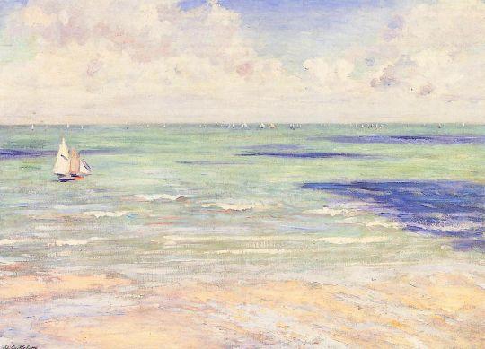 Морской пейзаж, регата на Виллер