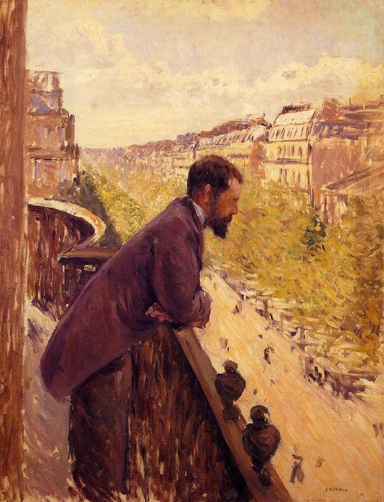 Человек на балконе