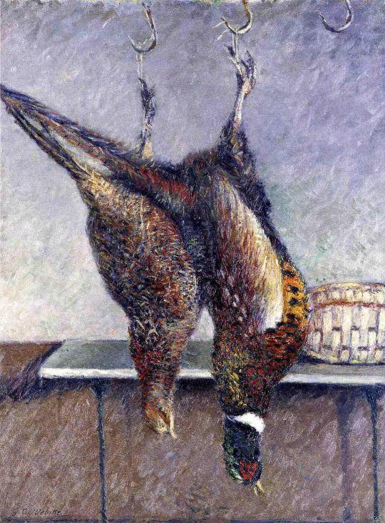 Два висячих фазана