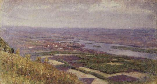 Вид на Красноярск с сопки