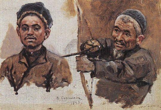 Головы татар (старика и молодого)
