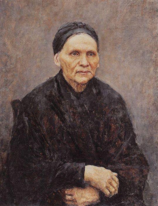 Портрет П.Ф.Суриковой (матери художника)
