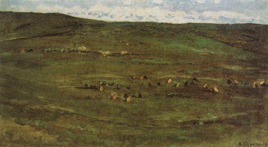 Табун лошадей в Барабинской степи