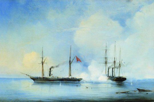 Бой пароходофрегата Владимир с турецко-египетским военным пароходом Перваз-Бахри 5 ноября 1853 года