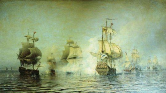 Бой у острова Эзель 24 мая 1719 года