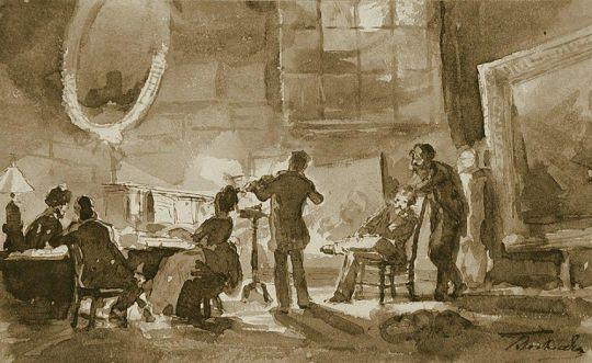 Вечер у К.Савицкого в Париже