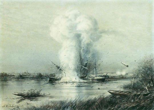 Взрыв турецкого парохода Люфти-Джелиль