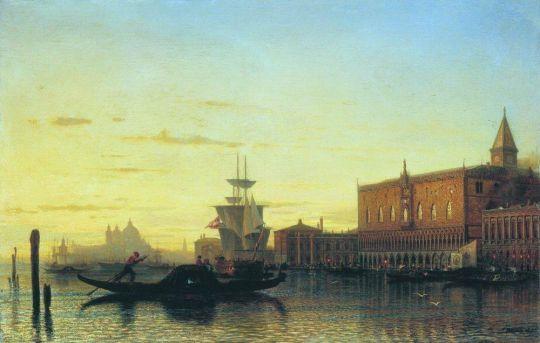 Вид Венеции. Дворец дожей