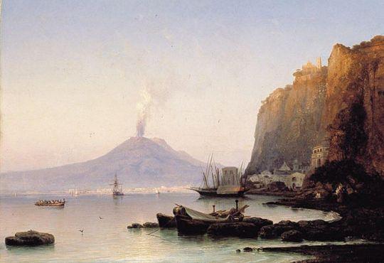 Вид на Везувий от деревни Вико