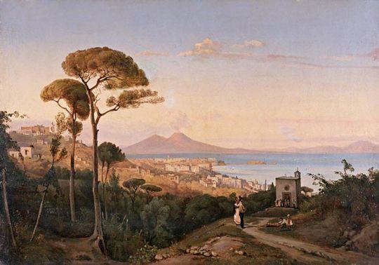 Вид Неаполя. Италия