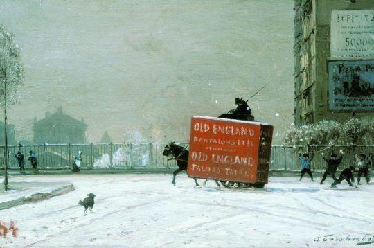 Зима в Париже. Середина 1870-х