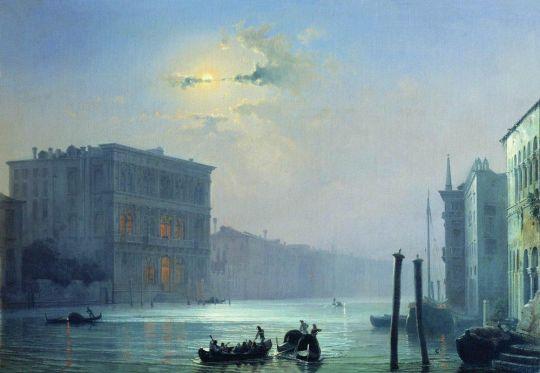 Лунная ночь. Большой канал в Венеции