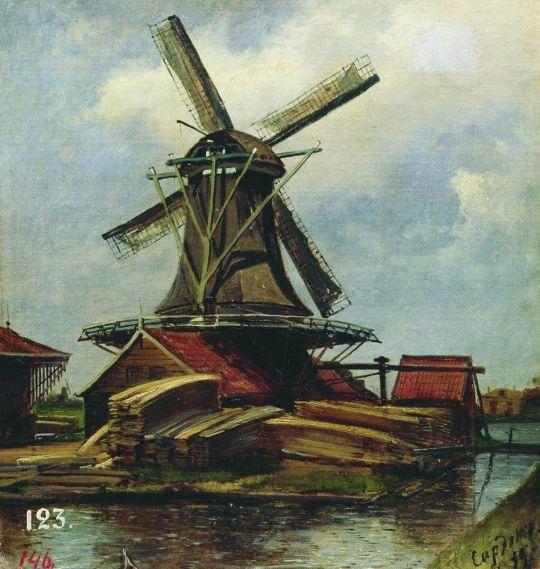 Мельница в Саардаме (Голландия)