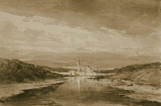 Монастырь на берегу реки