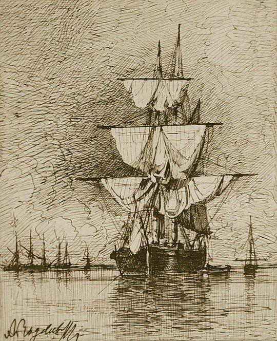 Парусное судно на якоре