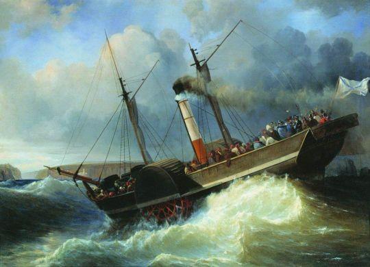 Пассажирский пароход Император Николай у Черноморского побережья