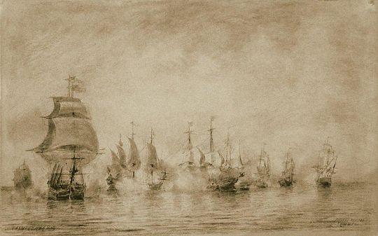 Первое морское сражение (Н.Сенявин)