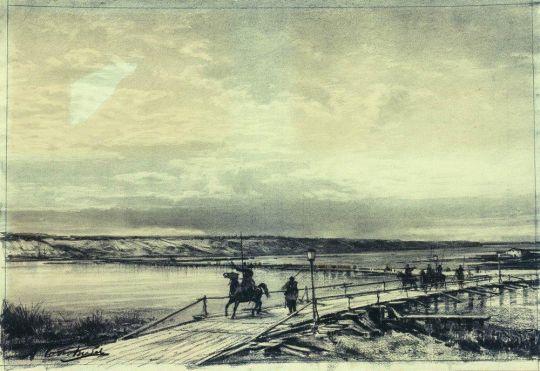 Понтонный мост через Дунай
