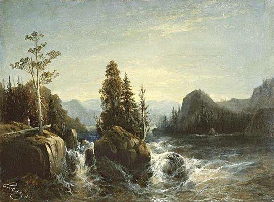 Разлив реки Вохти. Финляндия