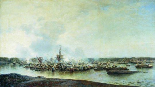 Сражение при Гангуте 27 июля 1714 года