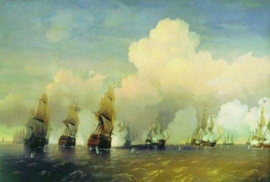 Сражение русского флота со шведским в 1790 году вблизи Кронштадта при Красной Горке