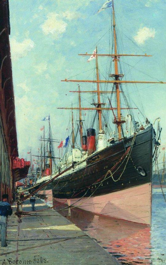 Французские пароходы в Гавре