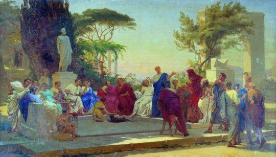 Гораций читает свои сатиры меценату