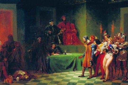 Мозаичисты перед судом трех в Венеции во второй половине XVI века